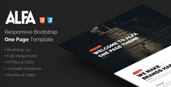 ThemeForest Alfa Responsive Bootstrap One Page Template 10125873