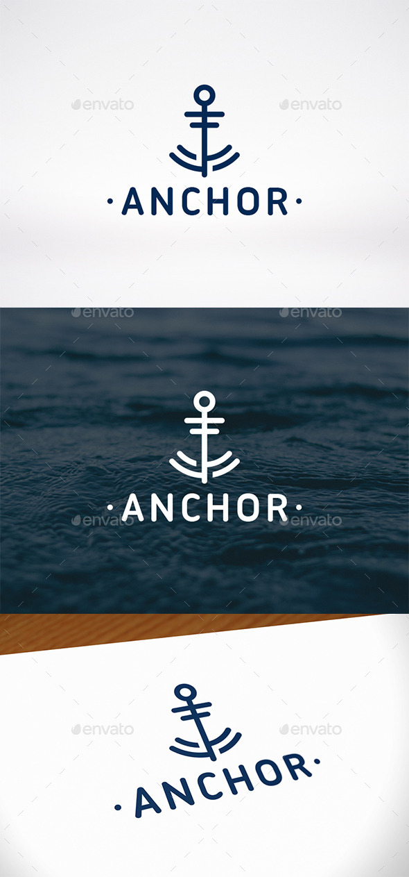 GraphicRiver Anchor Mark Logo Template 10126250