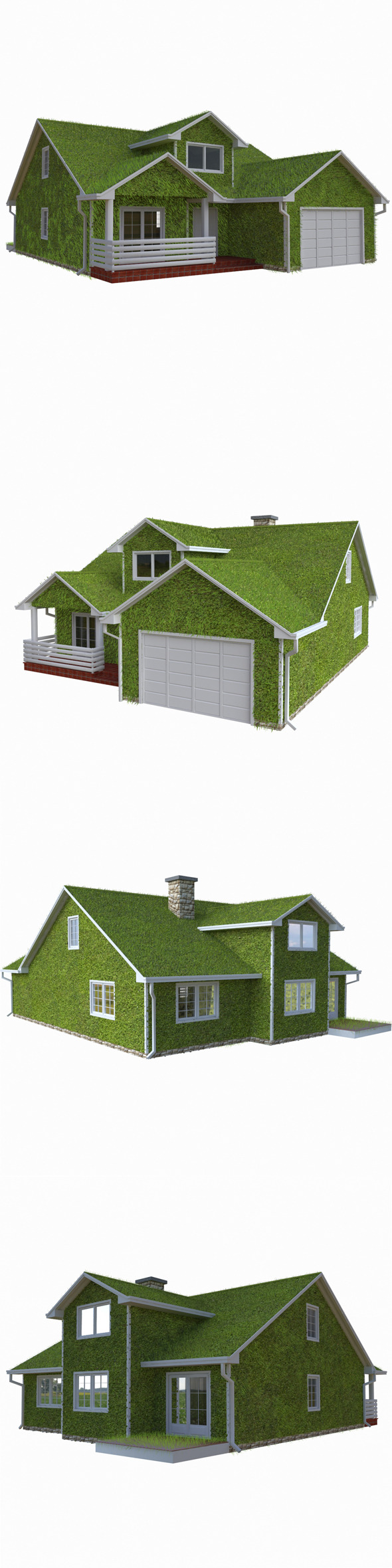 3DOcean Grass House Eco 10126370