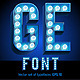 Realistic Lamp Board Alphabet - GraphicRiver Item for Sale