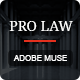 PRO Law - Adobe Muse Template - ThemeForest Item for Sale