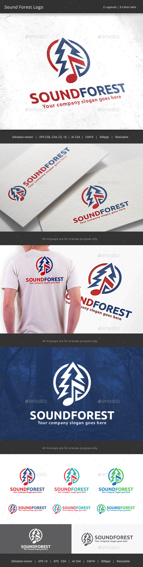 GraphicRiver Sound Forest Logo 10126530