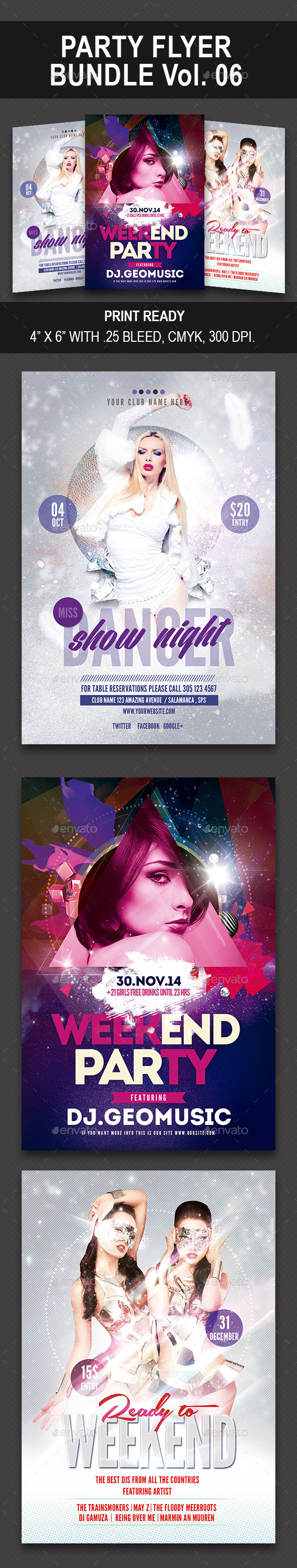 GraphicRiver Party Flyer Bundle 06 10126594