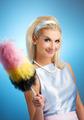 Funny housewife retro portrait