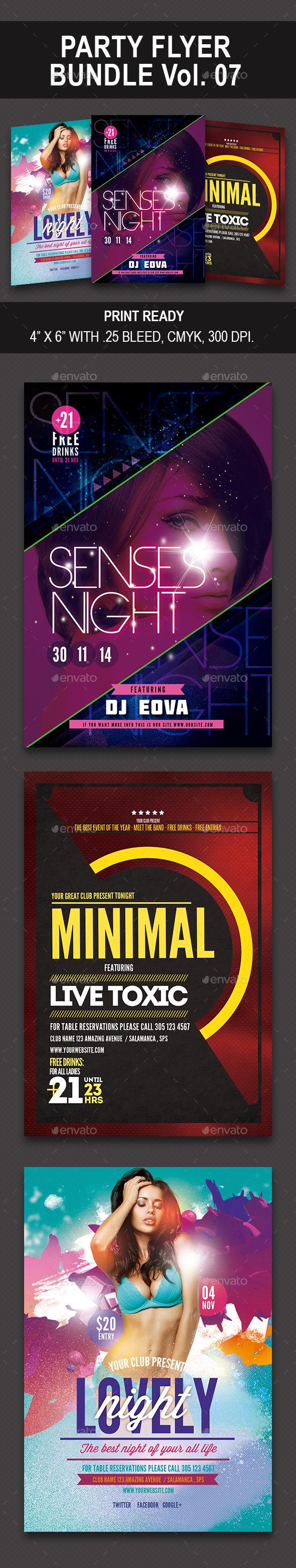 GraphicRiver Party Flyer Bundle 07 10126755