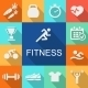 Sports Background with Fitness Icons - GraphicRiver Item for Sale