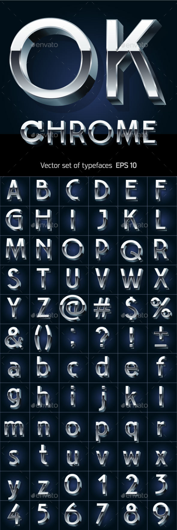 GraphicRiver Illustration of Silver or Aluminum 3D Alphabet 10126772