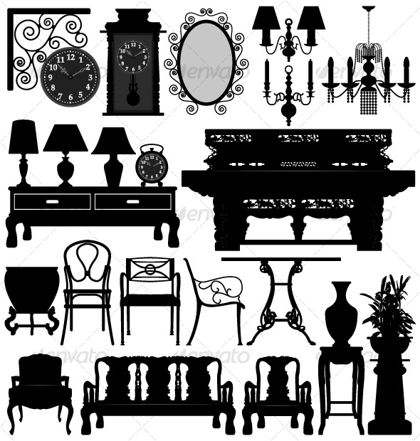 GraphicRiver Antique Old Furniture Home House 127999