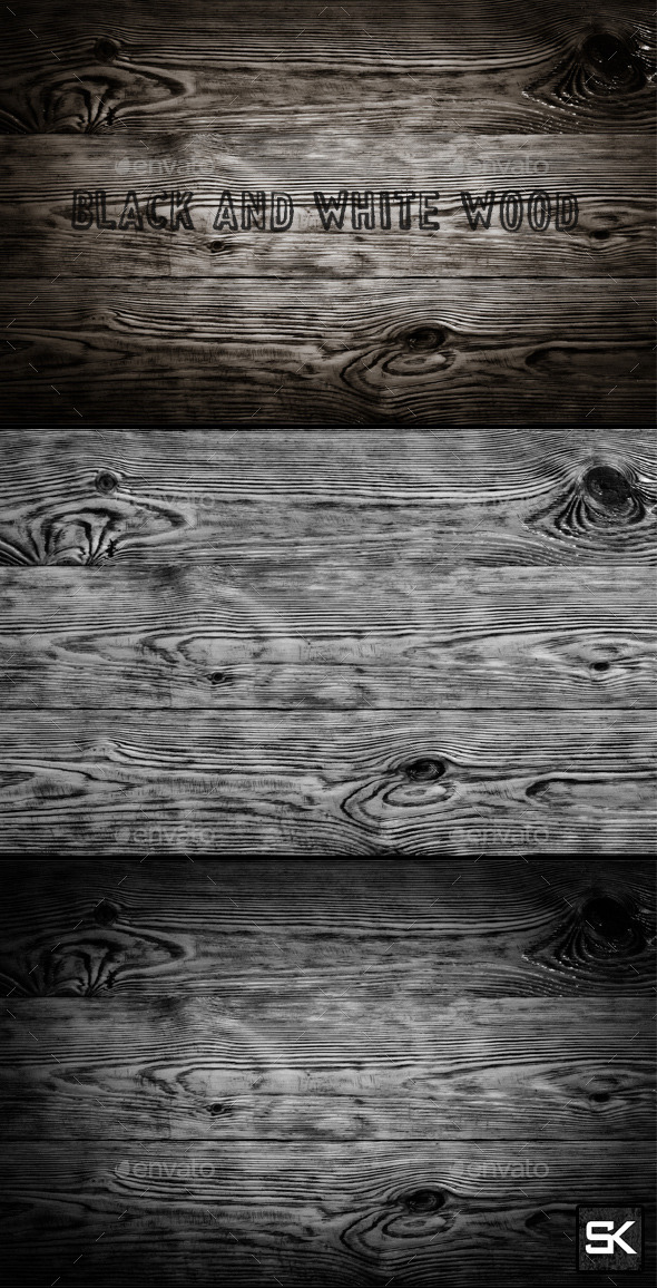 GraphicRiver Black And White Wood 10126878