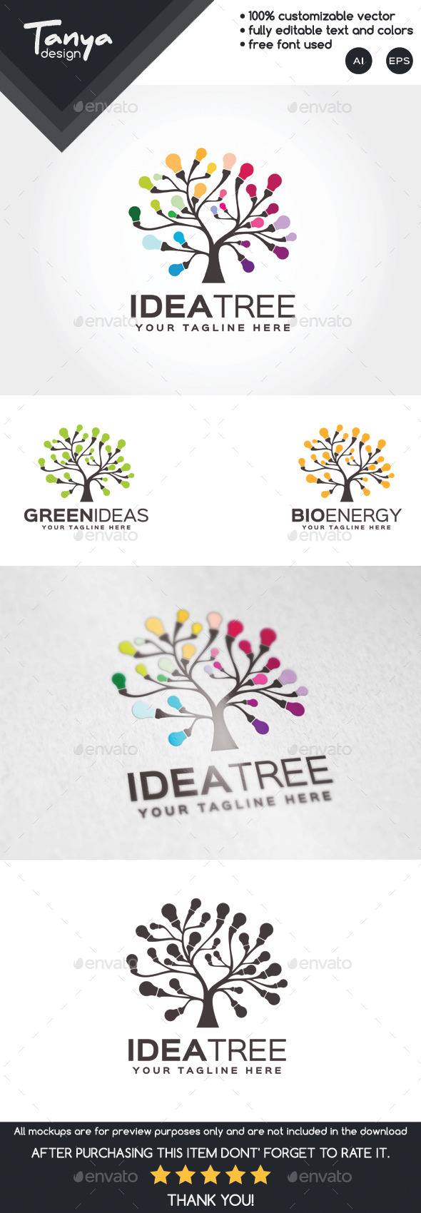 GraphicRiver Idea Tree Logo Template 10126911