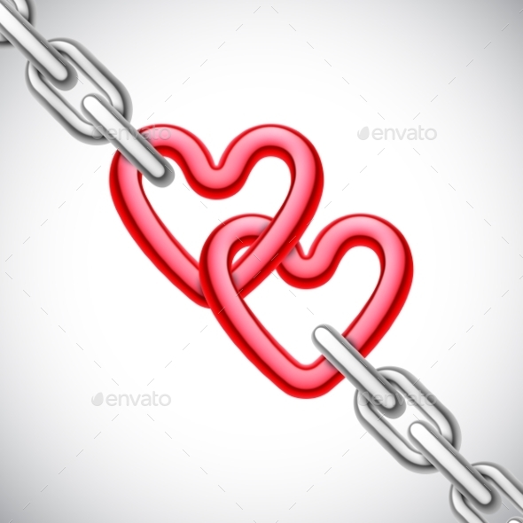 GraphicRiver Heart Shaped Chain 10127087