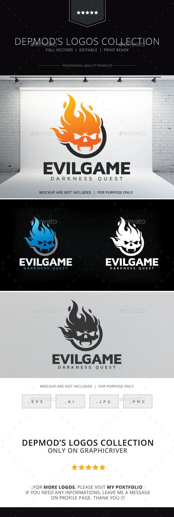 GraphicRiver Evil Game Logo 10127170