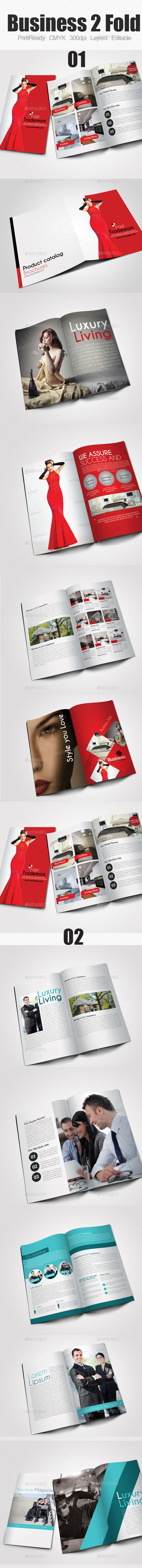 GraphicRiver Bi Fold Business Brochure Bundle 10127483