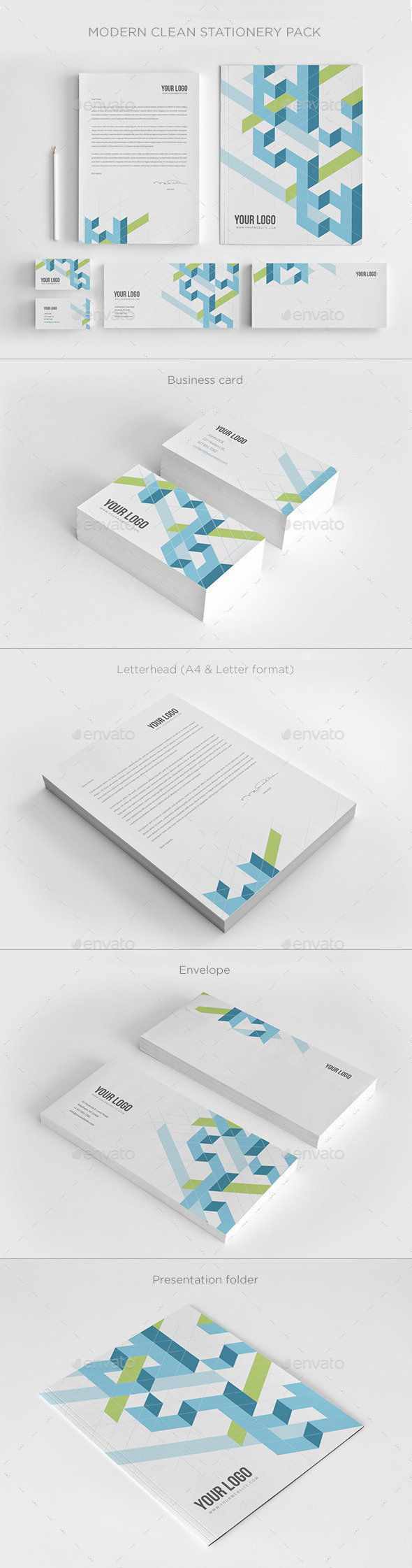 GraphicRiver Modern Clean Stationery 10127614