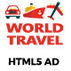WorldTravel HTML5 Ad - CodeCanyon Item for Sale