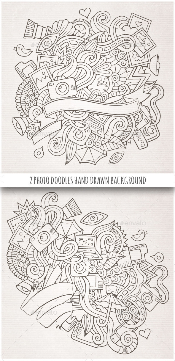 GraphicRiver 2 Photo Doodles Sketch Backgrounds 10127752
