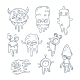 Illustration of Monsters - GraphicRiver Item for Sale