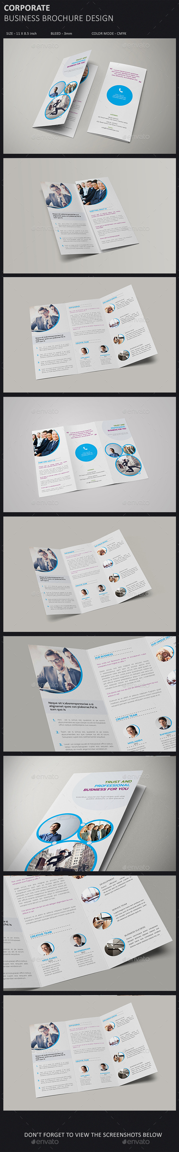 GraphicRiver Corporate Tri-fold Brochure Template 10128049