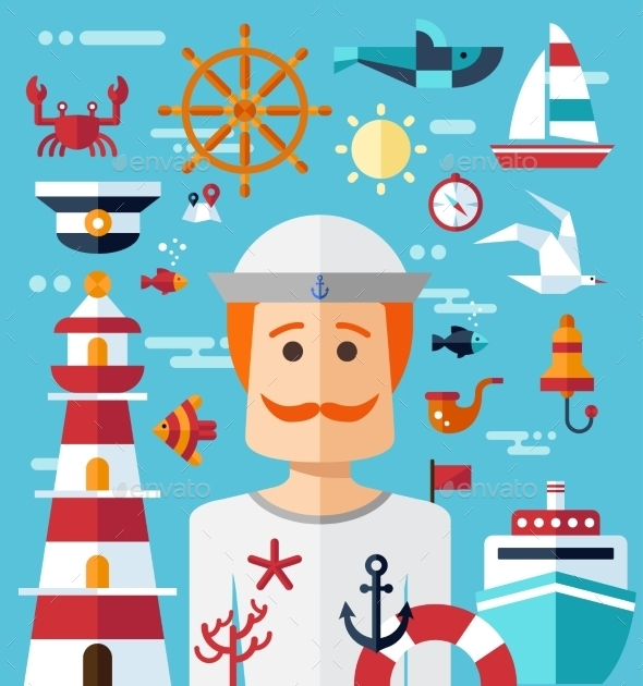 GraphicRiver Nautical Illustration 10128076