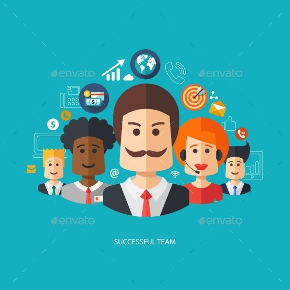 GraphicRiver Business People 10128077