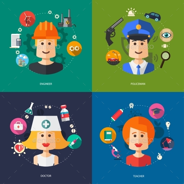 GraphicRiver People Professions 10128078