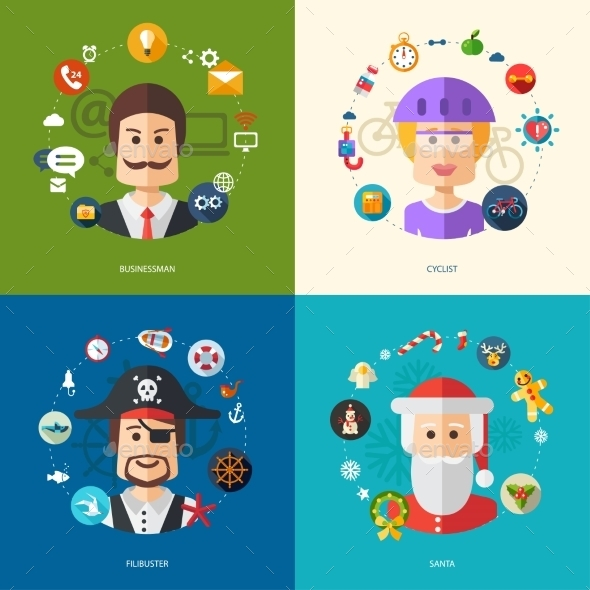GraphicRiver People Professions Concept 10128099