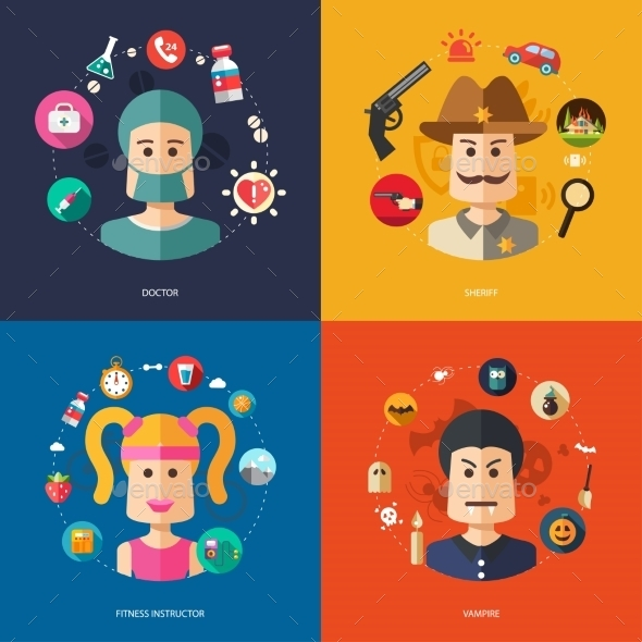 GraphicRiver People Professions 10128102