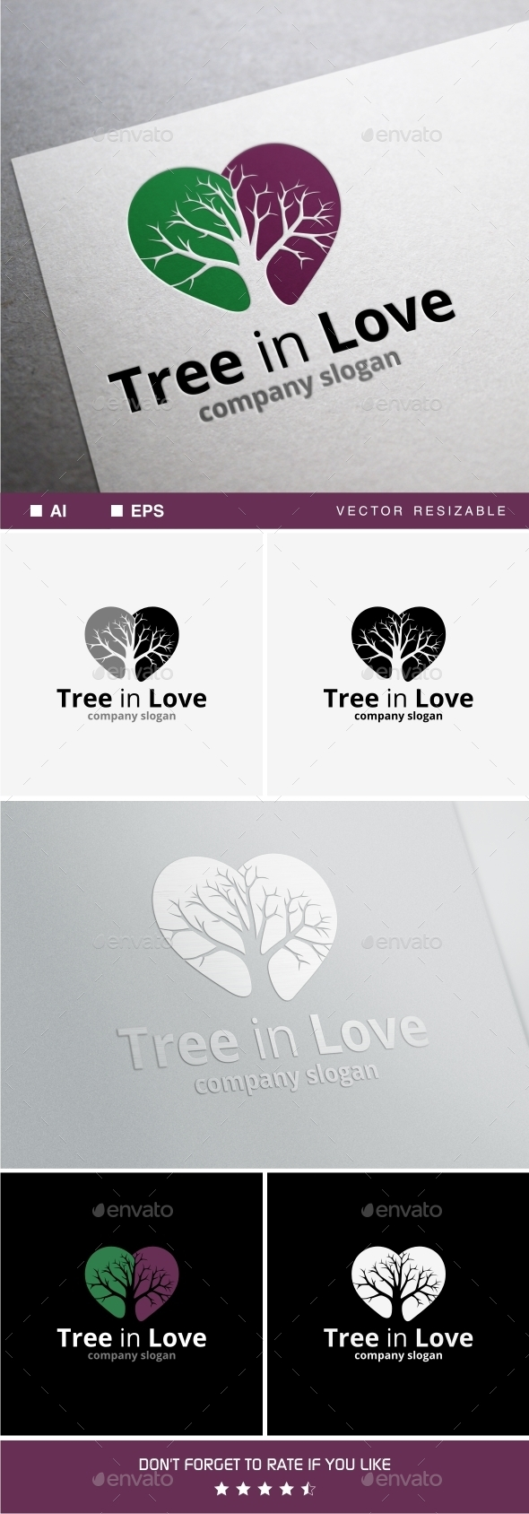 GraphicRiver Tree in Love 10128108