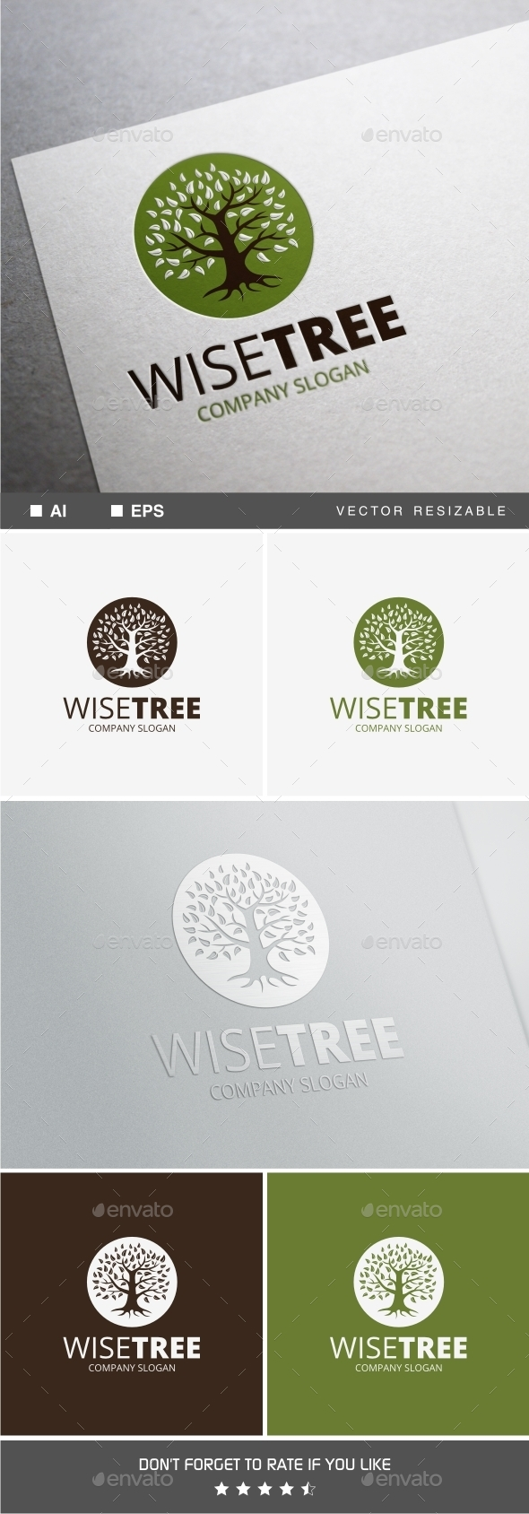 GraphicRiver Wise Tree Logo 10128117