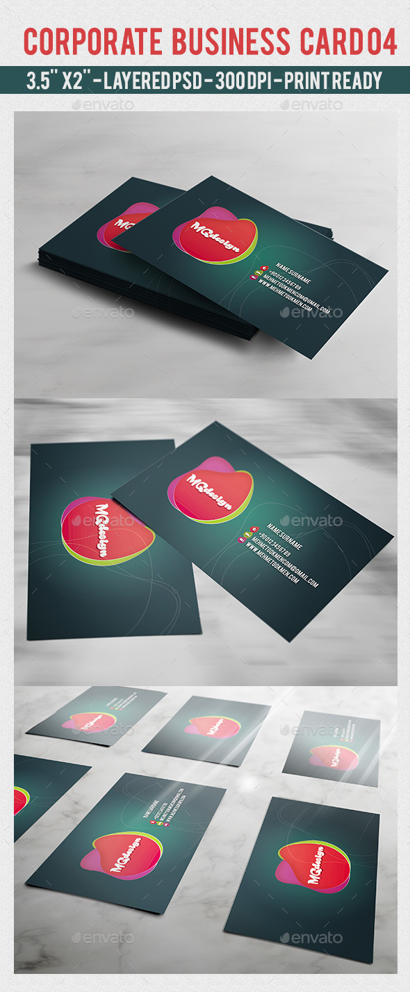 GraphicRiver Corporate Business Card 04 10128366