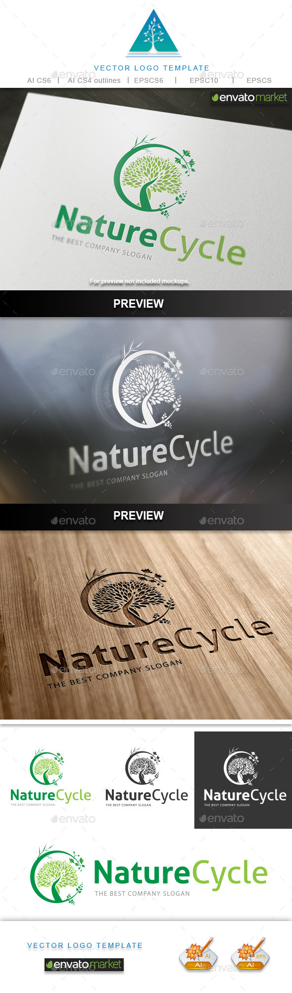 GraphicRiver Nature Cycle Logo 10128369