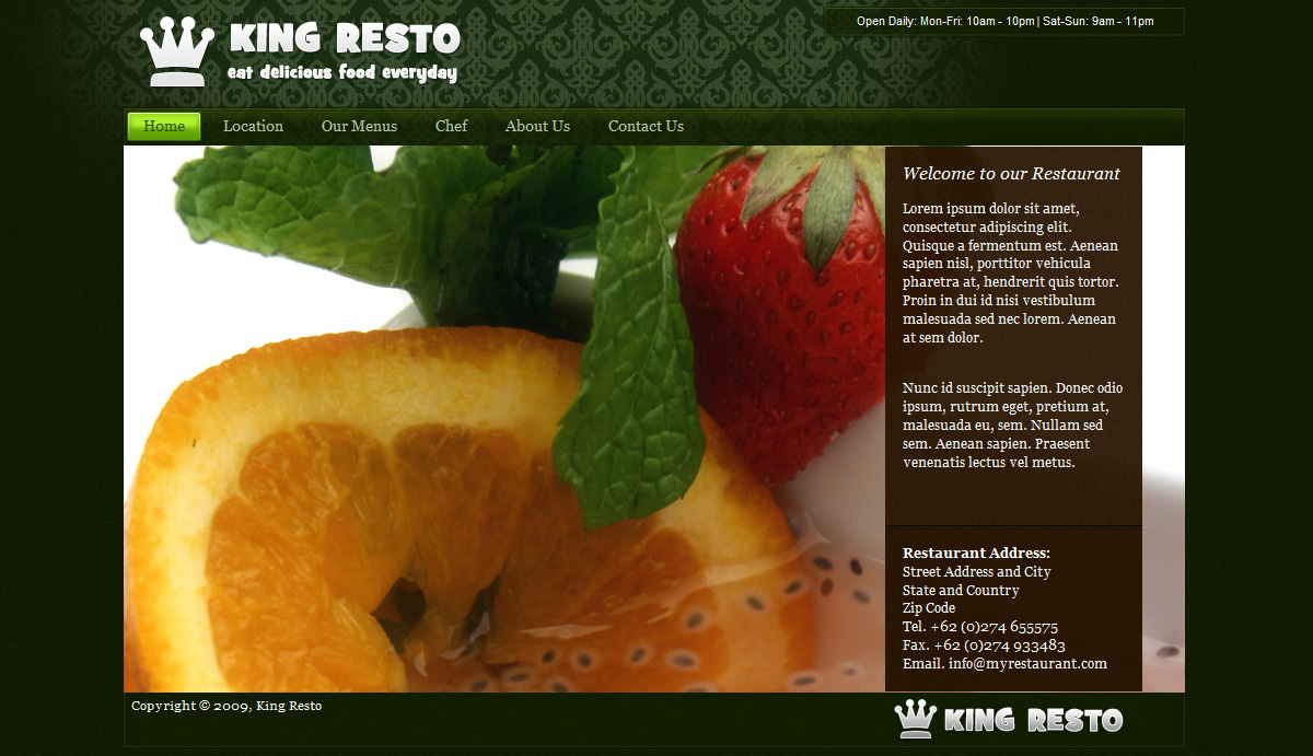 Green and Dark Restaurant Layout - Green and Dark Restaurant Layout - Homepage