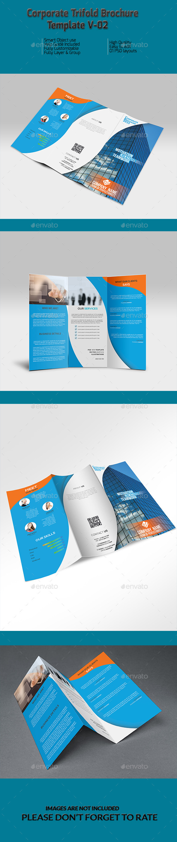 GraphicRiver Corporate Trifold Brochure Template V-02 10129365