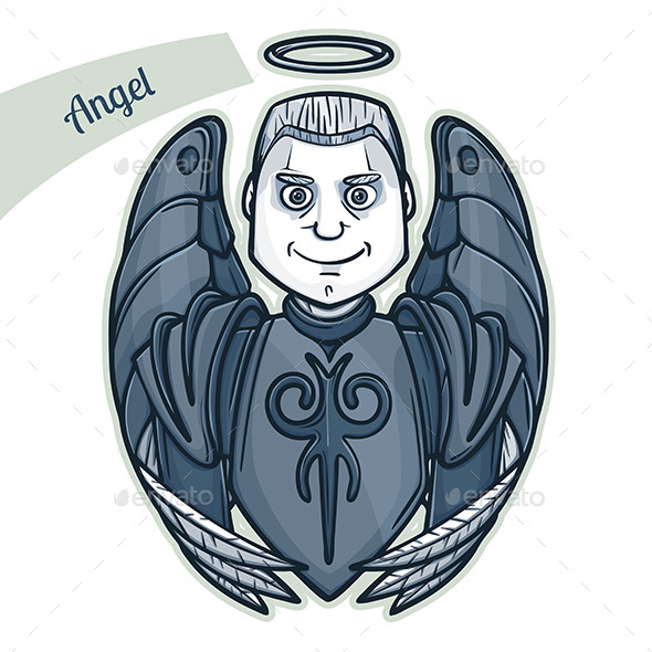 GraphicRiver Sticker Angel 10130009