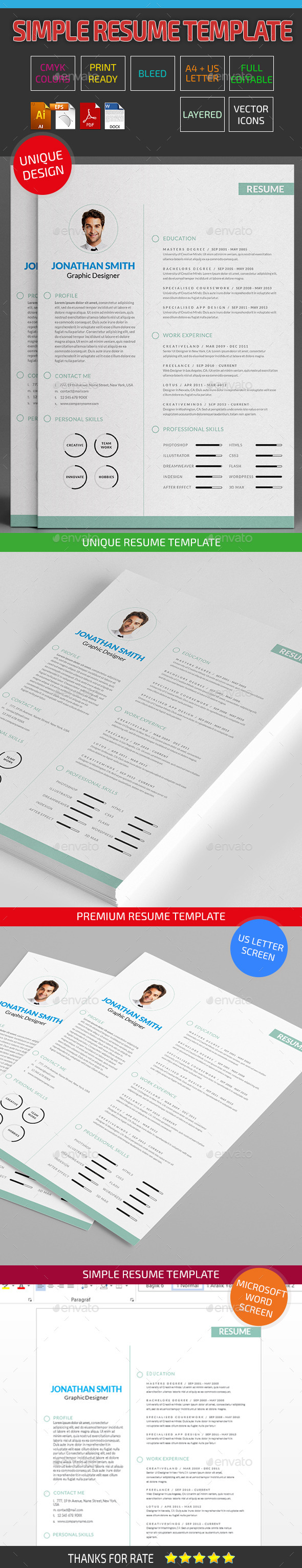 Simple Resume Template 07