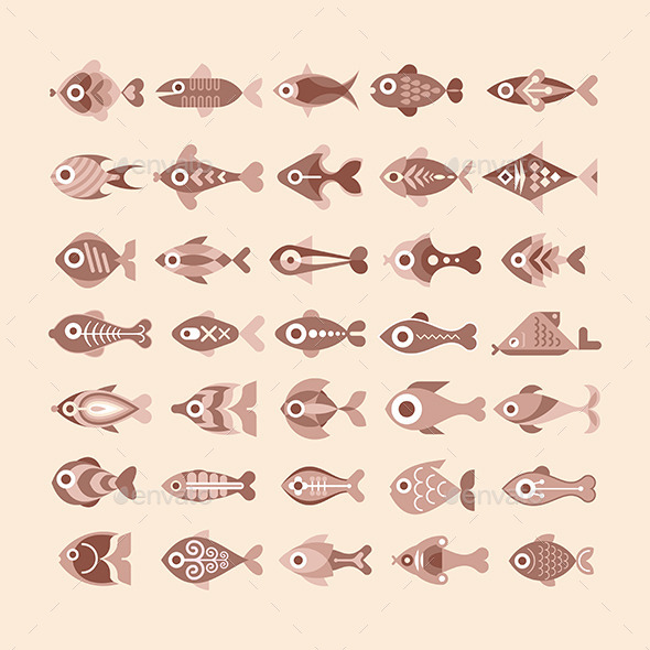 GraphicRiver Fish Icon Set 10130077