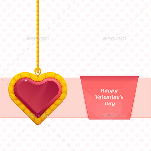 GraphicRiver Heart On a Chain Baner 10130096