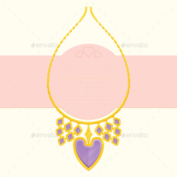 GraphicRiver Necklace With Heart 10130240