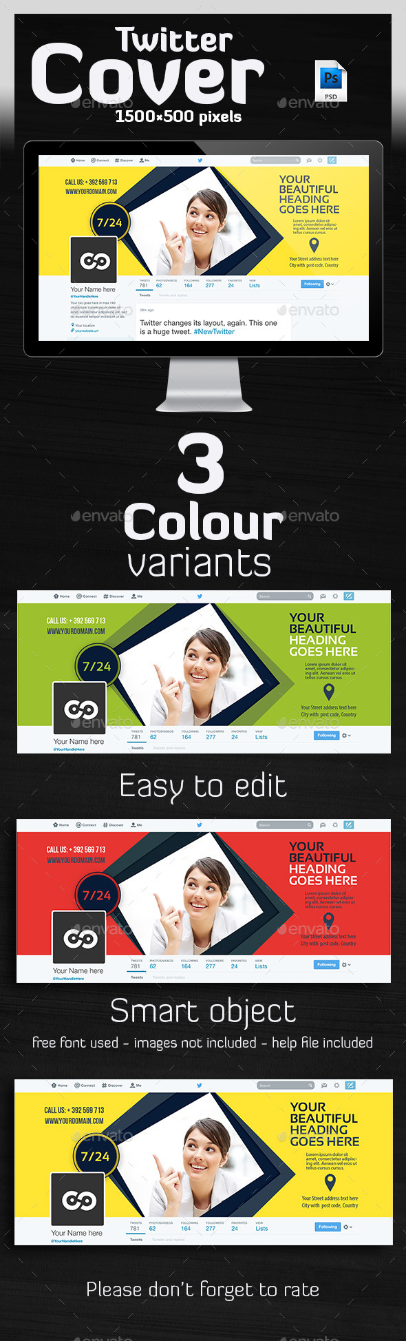 GraphicRiver Multipurpose Twitter Header 10130444