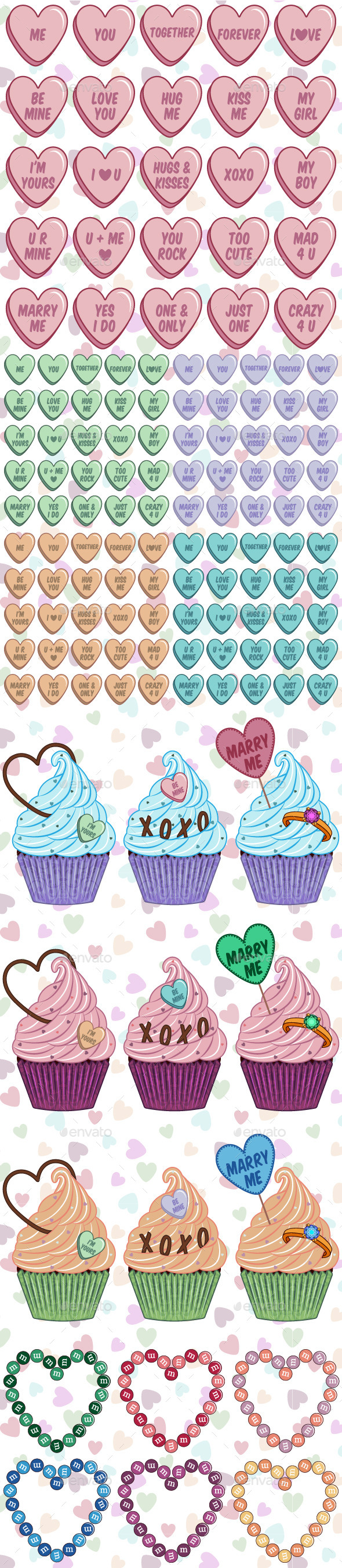GraphicRiver Sweet Love Set 10130656