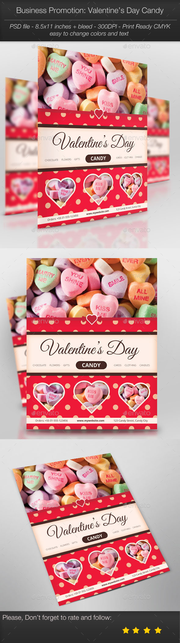 Business Promotion Valentine's Day Candy