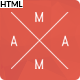 Mama - Minimal Responsive Portfolio HTML5 Template - ThemeForest Item for Sale