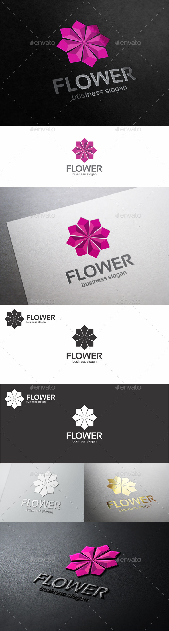 GraphicRiver Flower Jewelry Corporate Business Logo 10131262