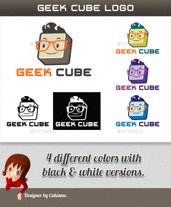 GraphicRiver Geek Cube Logo 10131375