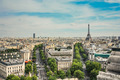 Eiffel Tower, View from Arc de Triomphe - PhotoDune Item for Sale