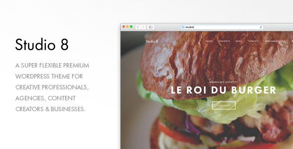 Studio 8 - A Flexible WordPress Portfolio