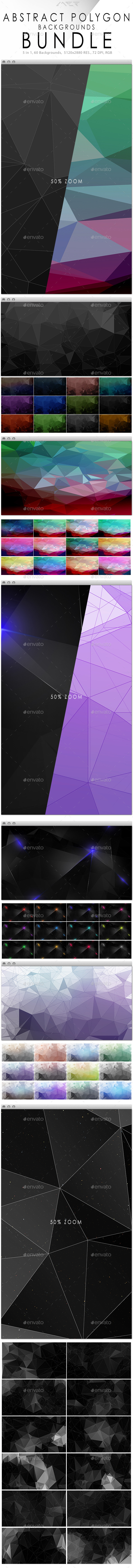 Abstract Polygon Backgrounds Bundle