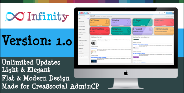 CodeCanyon Infinity Admin Theme for Crea8social 10131464