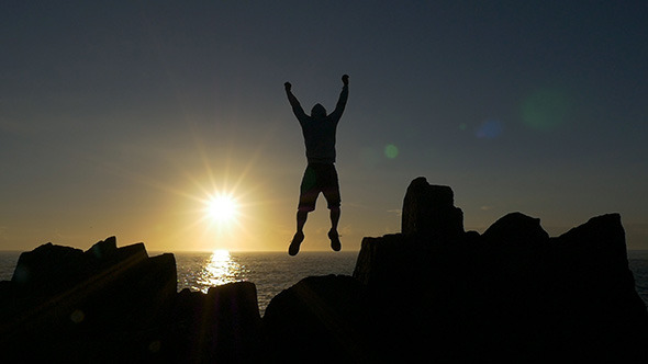 VideoHive Jumping for Joy at Sunrise 10131524