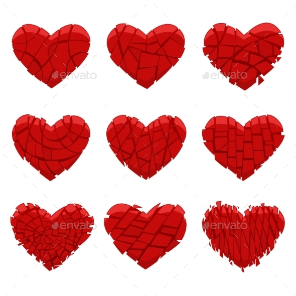 GraphicRiver Broken Red Heart 10131770